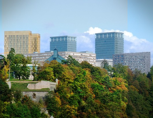 Luxembourg ville Kirchberg banques