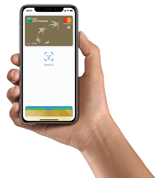 carte de credit BGL enregistre dans Apple wallet